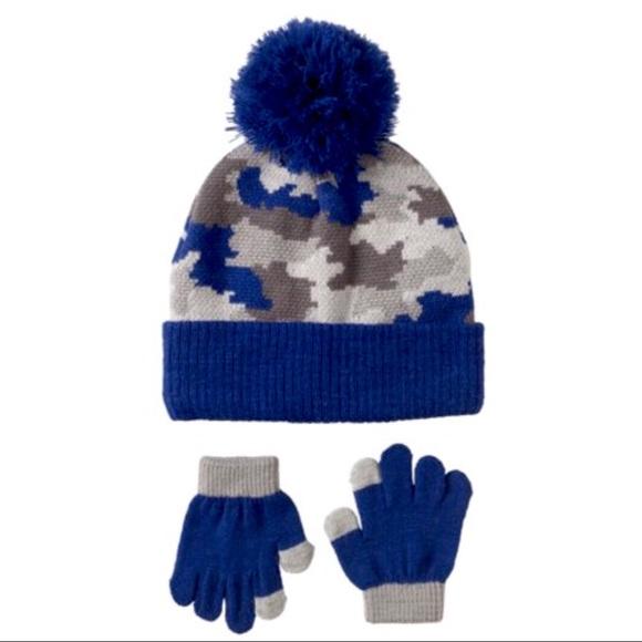 8a1164614d97e Camouflage Hat   Touch Friendly Glove Set - Boys